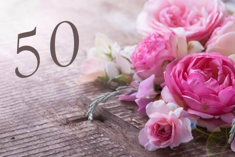 Einladungstexte zum 50. Geburtstag