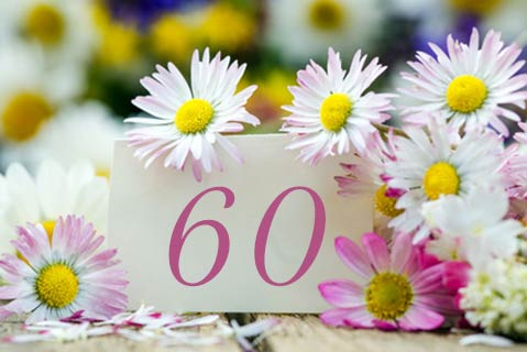 einladung zum 60. geburtstag | schÖne einladung geburtstag 60, Einladungsentwurf